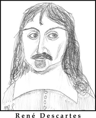 René Descartes Sketch by M.R.P. - epistemology - empiricism - rationalism - pragmatism