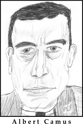 Albert Camus Sketch by M.R.P. - The Stranger ending - authenticity, existentialism