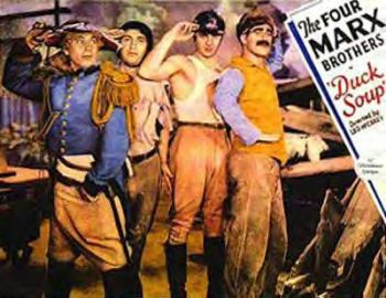 Duck Soup movie poster - Marx Brothers - Groucho Marx, Harpo Marx, Chico Marx, Zeppo Marx