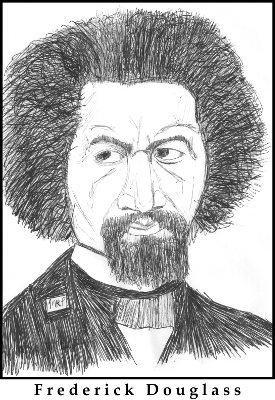 Frederick Douglass Sketch by M.R.P. - autobiography, sincerity, community