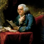 Portrait of Benjamin Franklin by David Martin - autobiography, manipulation, propaganda
