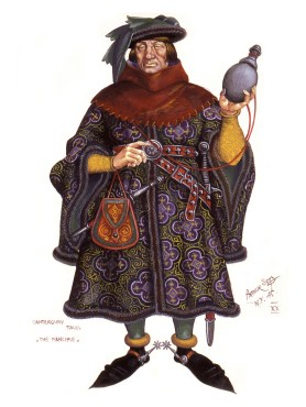 The Manciple by Arthur Szyk - The Canterbury Tales - Geoffrey Chaucer