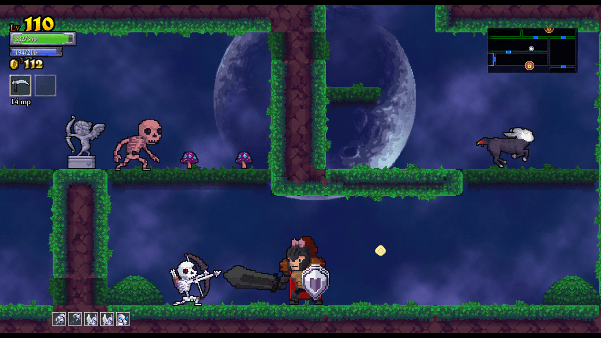 Rogue Legacy screenshot with forest - Cellar Door Games - remix bosses - nonlinear difficulty scaling  sc 1 st  The Gemsbok & Difficulty and Rogue Legacyu0027s Remix Bosses - The Gemsbok pezcame.com