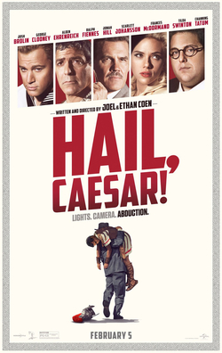 Hail, Caesar! movie poster - Coen Brothers - trailers and themes