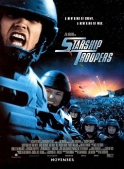 Starship Troopers movie poster - Paul Verhoeven - Robert A. Heinlein - movie vs. book