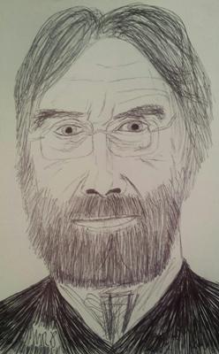 Michael Haneke Sketch by M.R.P. - Funny Games - violence, fiction, reality, media