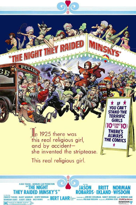 The Night They Raided Minsky's poster - William Friedkin, Ralph Rosenblum - burlesque, editing, tone