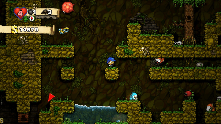 Spelunky screenshot with jungle area - Infinifactory, Zachtronics - games as art, definition of art