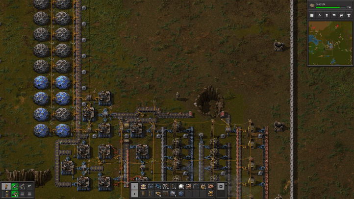 Factorio screenshot with early research supply chain - Wube Software, environmentalism, ecocriticism, ecology