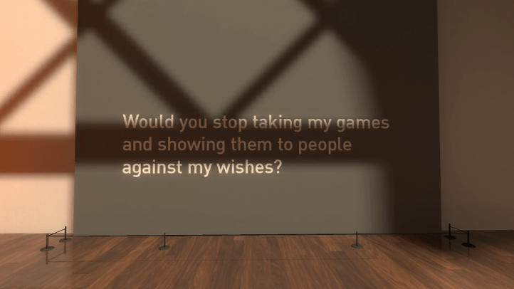 The Beginner's Guide screenshot with message telling Davey not to share games - Davey Wreden, analysis, critique