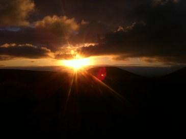 Sunset from Mangatepopo Track.