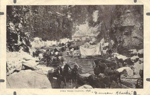 Dyea Trail Canyon, 1898 - Dawson, Alaska