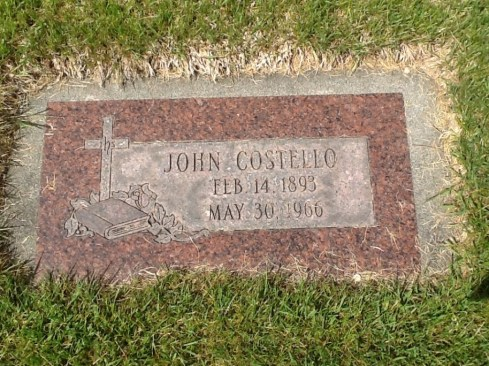 John Costello, headstone