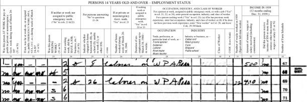 gg, 1940 Census, Maffit household, 2