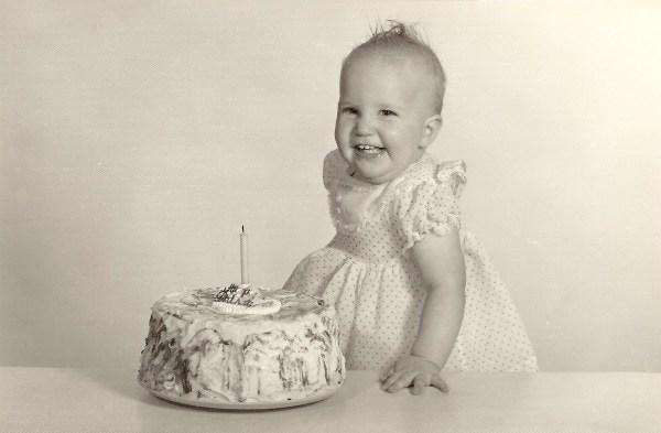 mom, 1st birthday