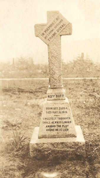 DUVAL, Francis Cyprien, headstone