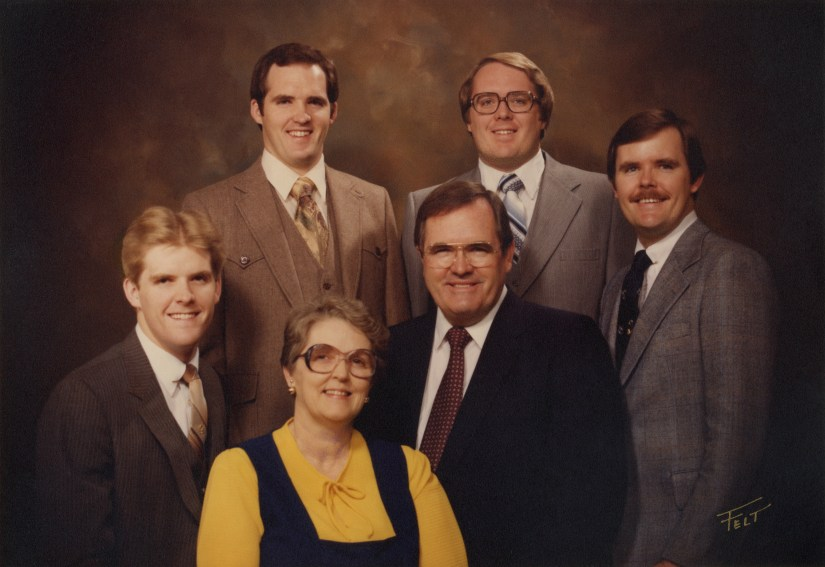 Ronald and Margaret Peterson family, February 1981