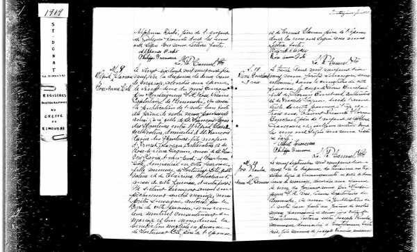 PROULX, Joseph and DEMERS, Anne Marie, 1919 Marriage Record, page 1