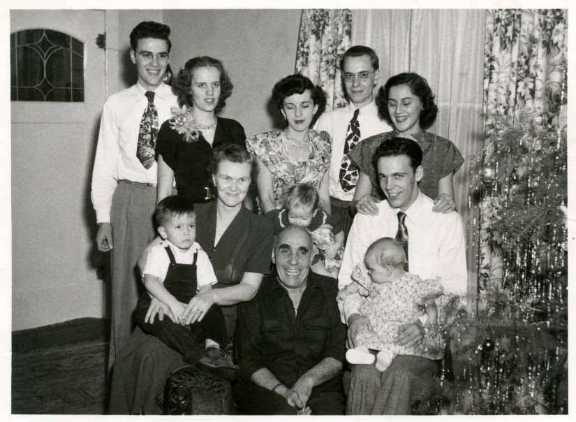 COSTELLO, John and Mary family 1950 Chritmas time