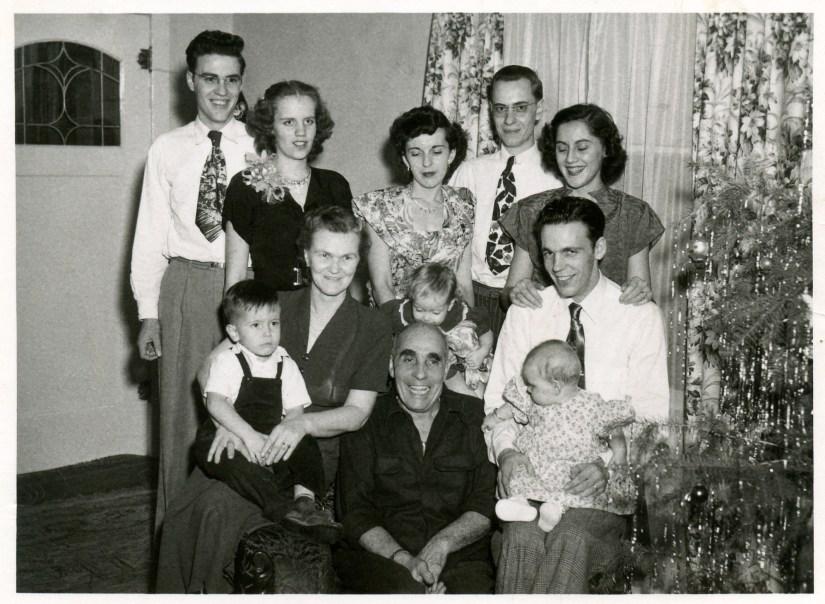 COSTELLO, John and Mary family 1950 Chritmas time