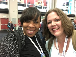 I met this new friend in line to check in. She is from Mobile, Alabama and had never heard of FamilySearch before! Catrina and I got her set up with an account, gave her tips for having a great RootsTech experience, and told her about the FHL. I ran into her the next day and had to see how her week had been and take a quick selfie.