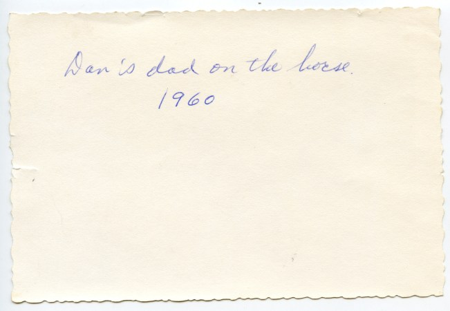 COSTELLO, John & Dan, Feb 1960 with horse- back