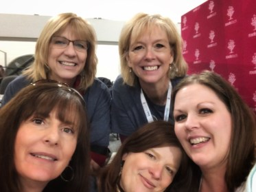 back, l-r: Laura Hedgecock, Cheri Passey; front l-r: Lynn Broderick, Marie Cappart, Amberly