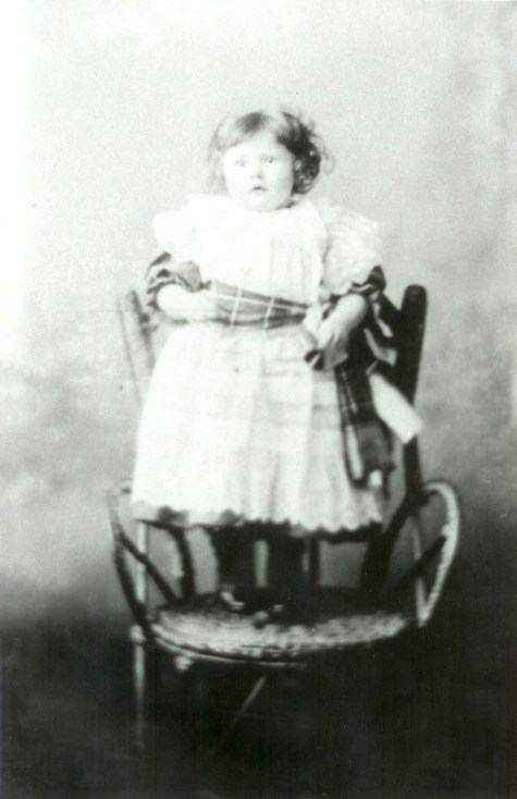 Catherine Young as child