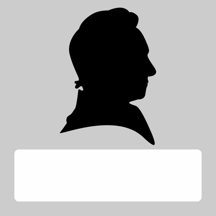 silhouette blank male gray