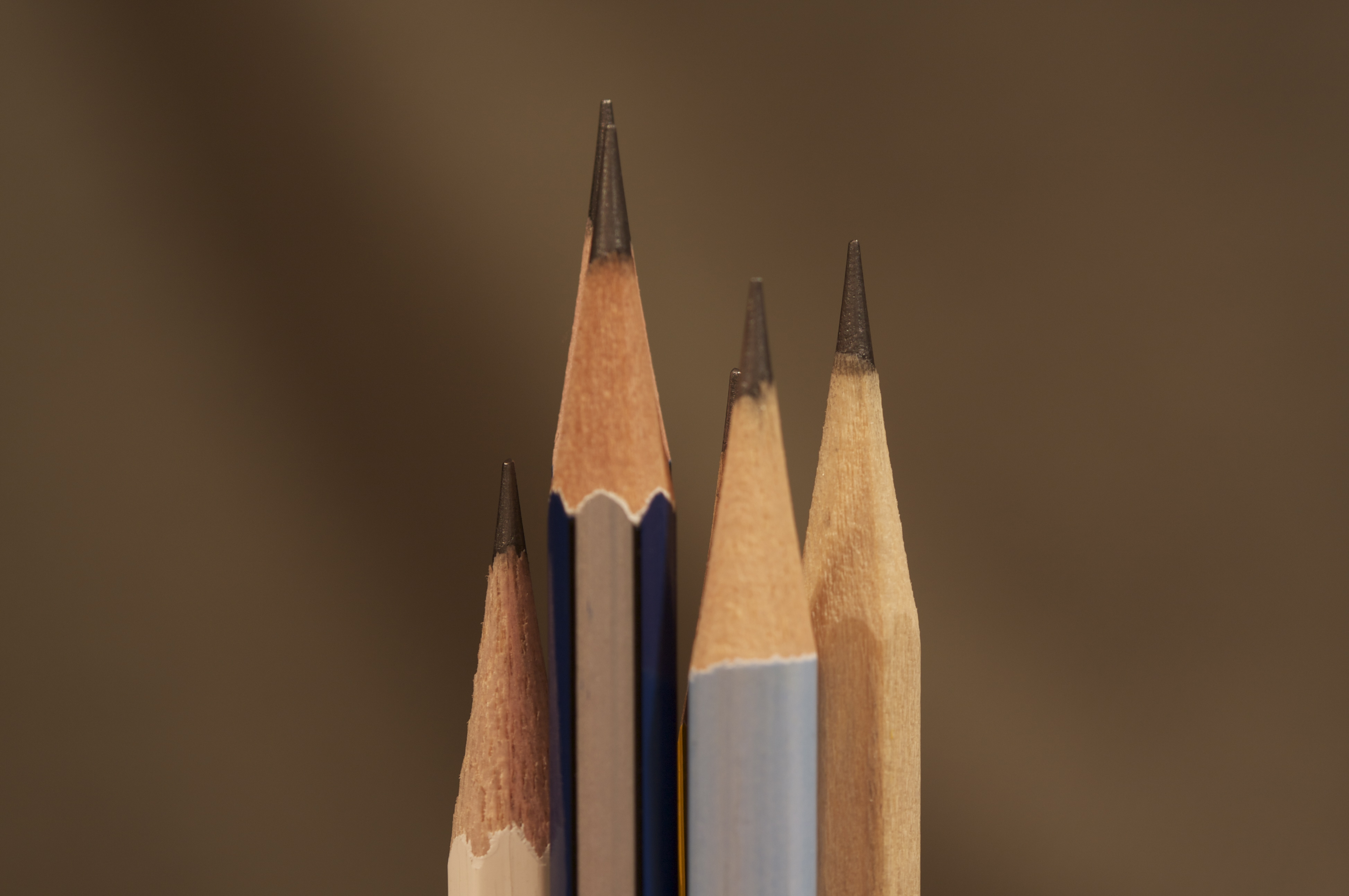 Ordinary everyday used pencils