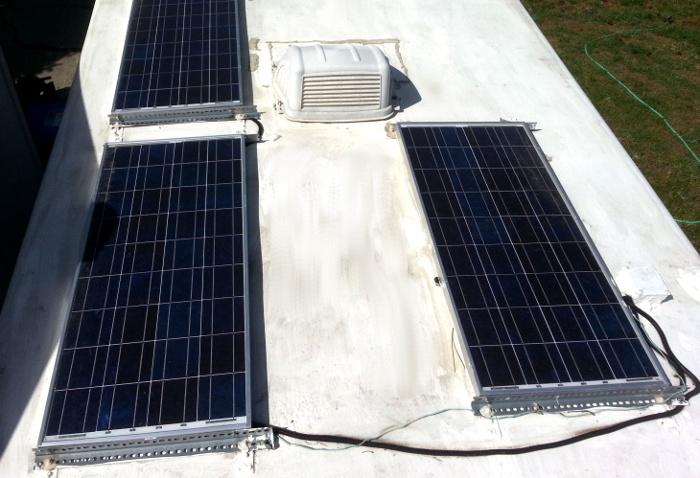 3 100 watt solar panels © Paul H. Byerly