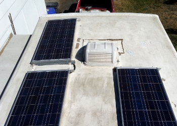 Roof solar panels - before © Paul H. Byerly