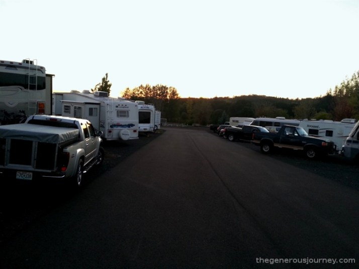 Sunset in an RV Park © Paul H. Byerly
