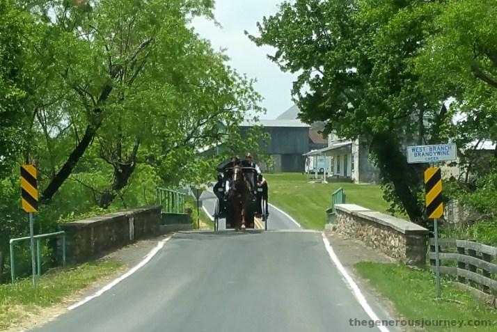 Horse Carriage on One Lane Bridge © Paul H. Byerly