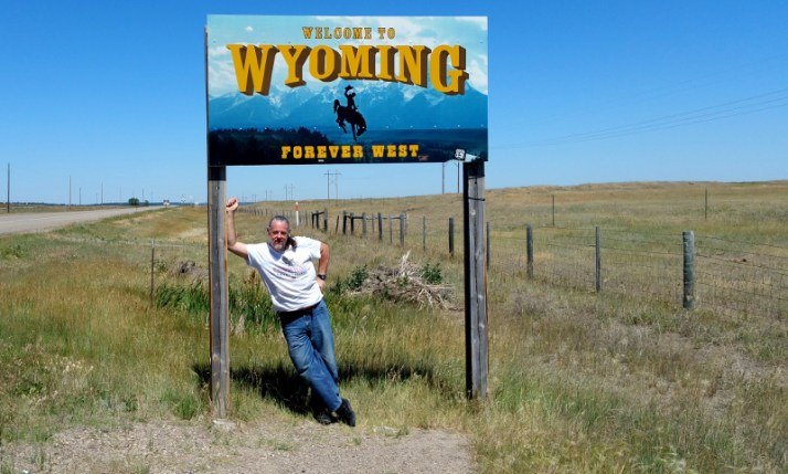 Paul @ Wyoming border © Paul H. Byerly