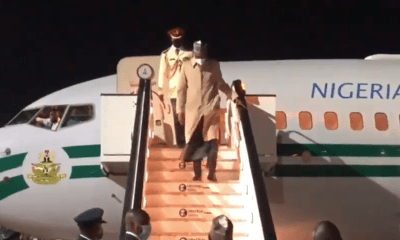 BREAKING: President Buhari Arrives London For Medical Check Up [VIDEO]