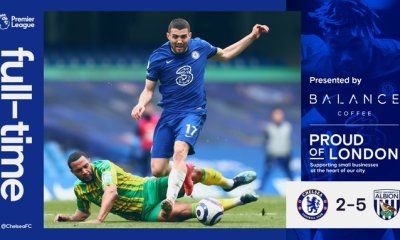 #CHEWBA: West Brom Humiliates Chelsea In 7 Goal Thriller At Stamford Bridge