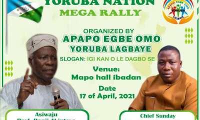 BREAKING: Yoruba Nation To Hold Massive Rally In Ibadan [SEE DATE]