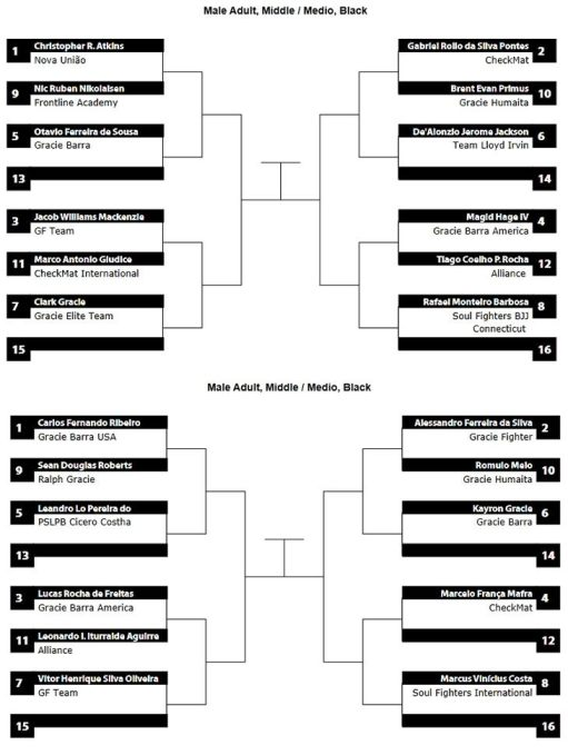pan ams 2013 middle weight bracket