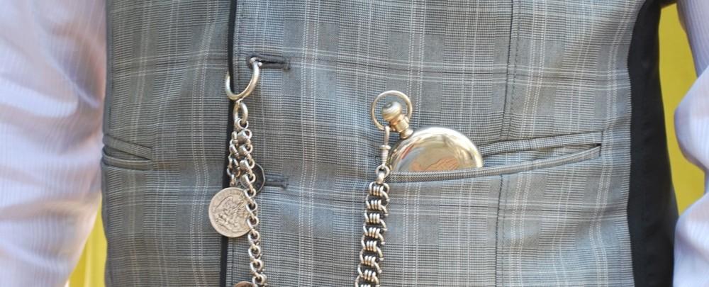 catenella con anello per orologio da tasca