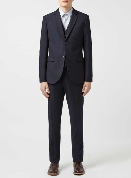 dark navy textured suit