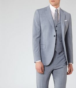 FAULKENBERG MODERN-FIT SUIT SOFT BLUE