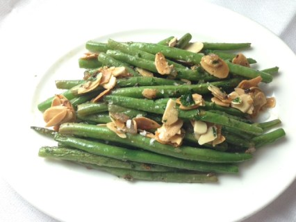 Pan roasted haricot verts with almonds (a side tonight at Restaurant Michael Schwartz)