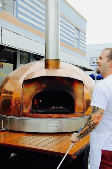 Chef de cuisine Daniel Ramirez, stoking the flames!