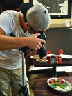 Photographer Andrew Stankus, handling Michael's Genuine on behalf of Amazon Restaurants.