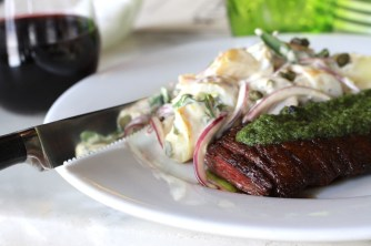 Pan Roasted Skirt Steak