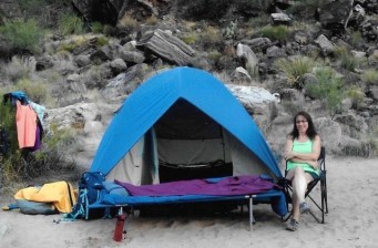 Campsite on Grand Canyon River Raft Trip