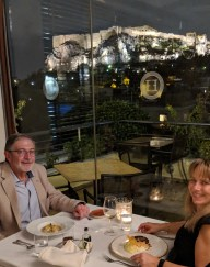 Dining in Athens with a view of the Acropolis and Parthenon