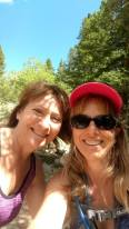Two women on a hike to Saint Mary's Glacier.