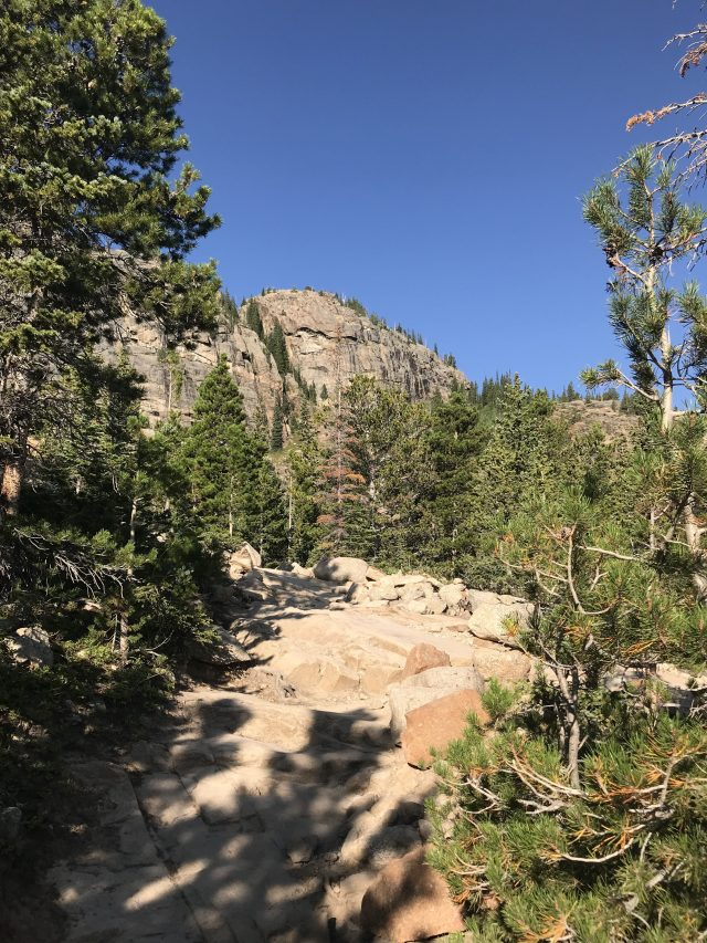 Rocky trail in Rocky Mountain National Park
